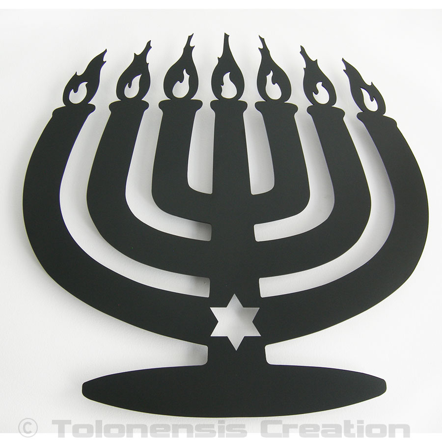 La décoration Judaica Menorah Modern